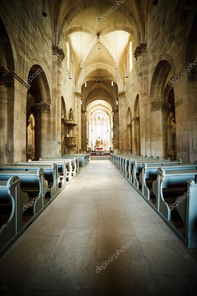 Interior of Roman Catholic cathedral in Alba Iulia, Romania — Stock Photo #12032227