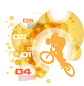 Vector of BMX cyclist — Vector de stock
