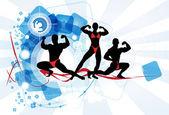 Fisiculturista — Vetorial Stock