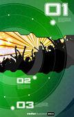 Fundo de evento de música. ilustração em vetor eps10. — Vetorial Stock