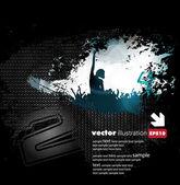 Muziek evenement achtergrond. vectorillustratie eps10. — Stockvector