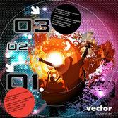 Musique de fond événement. illustration de vecteur eps10. — Vecteur