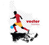 Soccer players on abstract background — Stock Vector