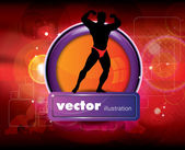 Bodybuilder — Stockvector