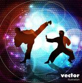 Warrior. Vector illustration. — Stock Vector