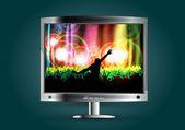 Music tv — Stock Vector