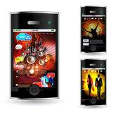 Smartphone vectoriels éditables — Vecteur
