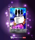 Smartphone bewerkbare vector — Stockvector