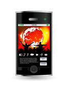 Smartphone editable vector — Stock Vector