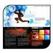 Website template easy to editable - Stock Vector