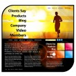 Website template easy to editable — Stock Vector