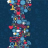 社会的なメディア ネットワーク アイコン背景 — ストックベクタ