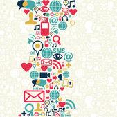 社会媒体网络图标背景 — 图库矢量图片