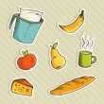 Healthy cartoon food — Stock Vector