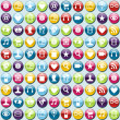 Mobile phone app icons pattern background — Stock Vector #10920939
