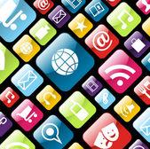 Fond d'icône téléphone mobile app — Vecteur