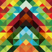 Abstract colorful triangle pattern background — Stok Vektör