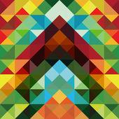 抽象的なカラフルな三角形のパターンの背景 — ストックベクタ