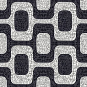 Abstract black and white pavement pattern — Stock Vector