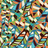 Фон абстрактный листьев модель — Cтоковый вектор
