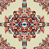 Optic effect geometric leaf pattern — Stock Vector