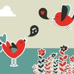 Fresh social media birds communication — Stock Vector #11233566