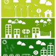 Stock Vector: Green city concept illustration