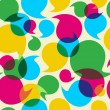 Social media bubbles pattern background - Vektorgrafik