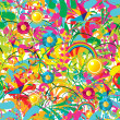 Vibrant floral summer pattern — Stock Vector #11234111