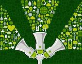 Go green social media marketing background — Stock Vector