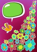 Fresh social media bird communication — Stock Vector