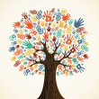 Stockvector : Isolated diversity tree hands