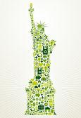 New York go green concept illustration — Stock Vector