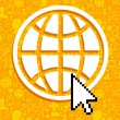 Vector de stock : Global communications symbol