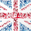 Постер, плакат: Sports silhouettes UK flag