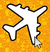 Social media travel business — Stock Vector