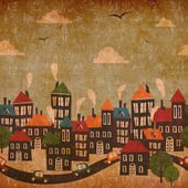 Abstract city vintage background — Stock Photo