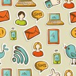 Social media cartoon icons pattern — Stockfoto