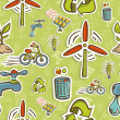 Stock Photo: Go green icon set pattern