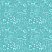 Social media cartoon icons pattern — Stock Photo