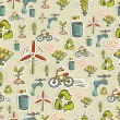 Постер, плакат: Ecology icons pattern