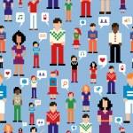 Постер, плакат: Social media network pattern