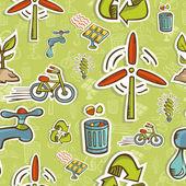 Vai sull'icona verde set pattern — Vettoriale Stock