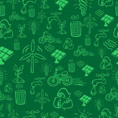 Green alternative energy pattern — Stock Vector