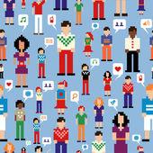 Sociální mediální sítě vzor — Stock vektor
