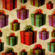 Vintage colorful gift box pattern — Stock Photo