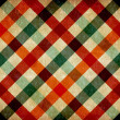 vintage checkered tablecloth pattern — Stock Photo