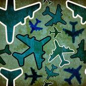 Travel by plane vintage pattern — Stock Photo