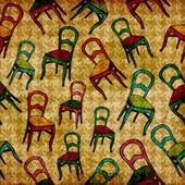 винтажные кресла шаблон — Стоковое фото