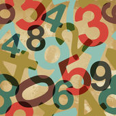 Vintage numbers pattern — Stock Vector